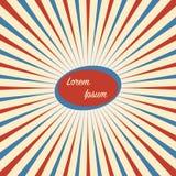 Предпосылка цирка винтажная в красной голубой белизне иллюстрация вектора