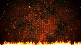 Предпосылка частиц огня видеоматериал