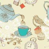 Предпосылка чая утра сбора винограда Стоковое Изображение RF