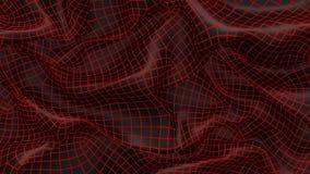 предпосылка черноты конспекта иллюстрации 3D с красным цветом