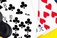 предпосылка чешет покер обломоков Стоковые Изображения