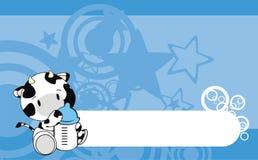 Предпосылка шаржа младенца коровы Стоковые Фото