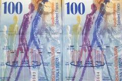 Предпосылка швейцарского франка для текста стоковое изображение