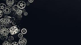 Предпосылка шестерней и cogwheels металла Стоковые Изображения