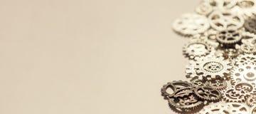 Предпосылка шестерней и cogwheels металла Стоковое Фото
