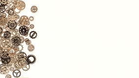 Предпосылка шестерней и cogwheels металла Стоковые Изображения RF
