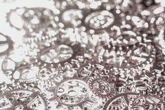 Предпосылка шестерней и cogwheels металла Стоковое фото RF