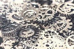 Предпосылка шестерней и cogwheels металла Стоковые Фотографии RF