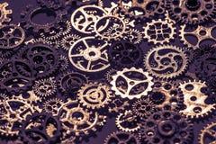 Предпосылка шестерней и cogwheels металла Стоковое Изображение RF