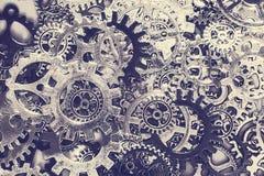 Предпосылка шестерней и cogwheels металла Стоковое Изображение