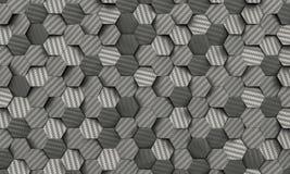 Предпосылка шестиугольника волокна углерода Стоковая Фотография RF