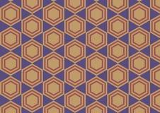 Предпосылка шестиугольника ретро абстрактная Стоковая Фотография RF