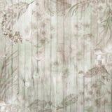 Предпосылка шикарного падения Boho деревянная с цветками и пер стоковое изображение rf