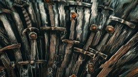 Предпосылка шпаг рыцаря металла конец вверх Рыцари концепции акции видеоматериалы