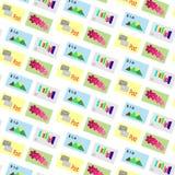 Предпосылка штемпелей почтового сбора вектора картины бесплатная иллюстрация
