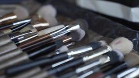 Предпосылка щетки щетка состава инструмент при щетинки используемые для применения состава или картины стороны видеоматериал