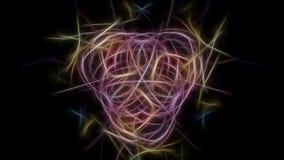 Предпосылка элегантности Серия симметрии фрактали silk иллюстрация штока