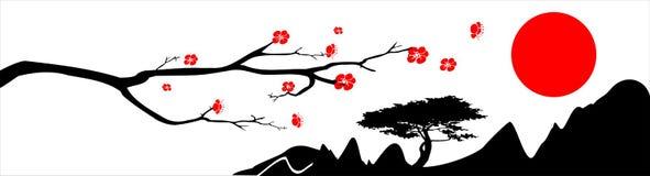 предпосылка япония бесплатная иллюстрация