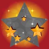 Предпосылка ярких праздничных звезд вектор Стоковые Изображения