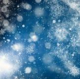 предпосылка яркого блеска праздника абстрактная с моргать звездами и падением Стоковые Изображения