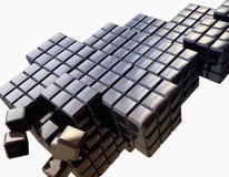 предпосылка 3d cubes металлическое Стоковые Фото