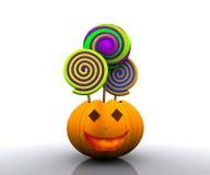 предпосылка 3D halloween Стоковые Изображения