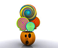 предпосылка 3D halloween Стоковые Фотографии RF