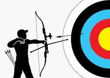 Предпосылка Archery иллюстрация вектора