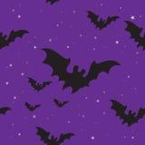 предпосылка bats halloween безшовный Стоковое Изображение RF
