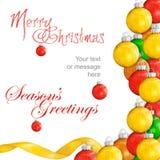 Предпосылка bauble рождества стоковое изображение rf