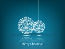 Предпосылка baubles рождества Стоковые Фотографии RF