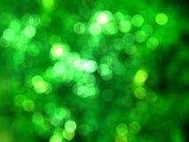 Предпосылка bokeh зеленого цвета настроения Christmass Стоковое Изображение RF