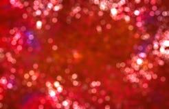 Предпосылка bokeh настроения Christmass красная Стоковые Изображения RF
