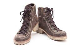 предпосылка boots белизна Стоковые Изображения