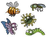 предпосылка bugs белизна бесплатная иллюстрация