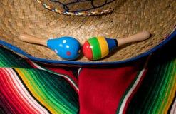 Предпосылка Cinco de Mayo на деревянных досках Стоковая Фотография RF