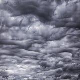 предпосылка cloudscape плохой погоды Стоковое Фото