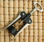 предпосылка corks вино штопора Стоковые Изображения RF