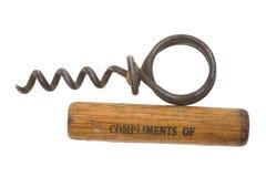 предпосылка corkscrews старая белизна стоковое изображение rf