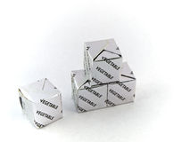 предпосылка cubes белизна штока vegetable стоковое фото