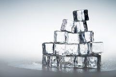 предпосылка cubes замороженный льдед прозрачный Стоковое Фото