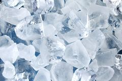 предпосылка cubes льдед Стоковое Изображение RF