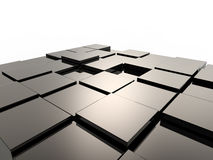 предпосылка cubes металлическое Стоковые Изображения