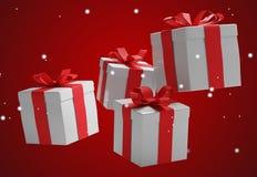 Предпосылка 3d-illustration подарков рождества Бесплатная Иллюстрация