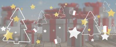 Предпосылка 3d-illustration рождества иллюстрация штока