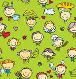 Предпосылка doodle семьи бесплатная иллюстрация