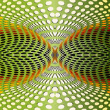 Предпосылка Fraktal зеленая с кругами Иллюстрация штока