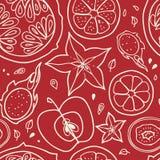 предпосылка fruits безшовно иллюстрация штока