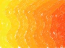 предпосылка grunge акварели волны Мягк-цвета винтажная пастельная абстрактная с покрашенными тенями желтого и оранжевого цвета стоковое фото rf