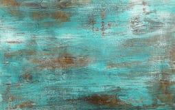 Предпосылка Grunge покрашенная синью античная деревянная Стоковое Изображение